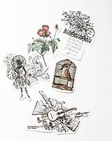 """Papier - Set nálepiek """"Vintage"""" - 10332578_"""