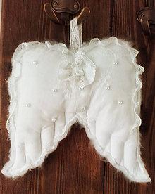 Dekorácie - Andělská křídla Shabby - 10335243_