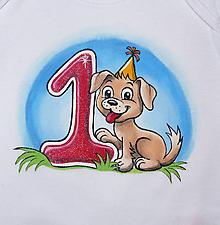 Detské oblečenie - narodeninove s miestom na dopisanie mena dietatka (9-12 mes.) - havko - 10335195_