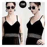 Šaty - Čierne zamatové šaty - 10332272_