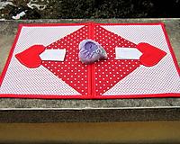 Úžitkový textil - Obálkové prestieranie s vreckom na odkaz - 10332347_