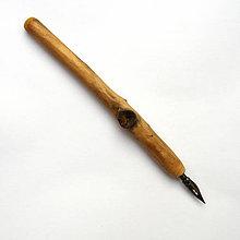 Papiernictvo - Špaltované topoľové kaligrafické pierko - 10334915_