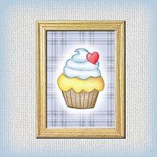 Obrázky - Koláčiky (Zamilovaný koláčik + káro) - 10333028_