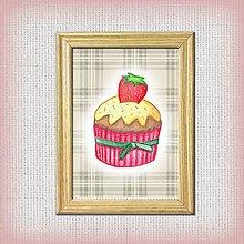 Obrázky - Koláčiky (Jahodový koláčik + káro) - 10333044_