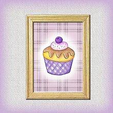 Obrázky - Čučoriedkový koláčik káro - 10333049_