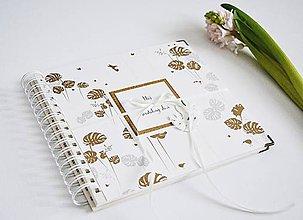 Papiernictvo - Malý album/kniha hostí - Monstery zlaté 20x20 - 10337755_