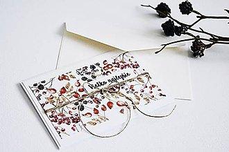 Papiernictvo - Pozdrav štýlový - Lesné plody - 10337803_