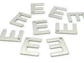 Komponenty - Písmeno E /M8007/ - nerezová oceľ 304 - 10338687_