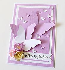 Papiernictvo - pohľadnica s motýľmi - 10336495_