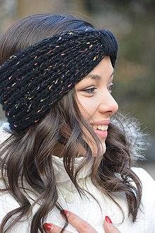 Ozdoby do vlasov - čelenky  v černé - 10338411_