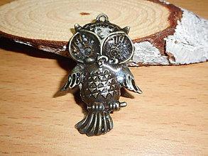 Náhrdelníky - sovička-- (prívesok so sovou) - 10339064_