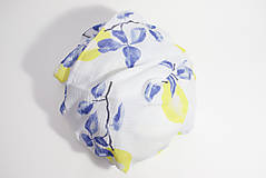 Textil - FRUITS gázovinová prikrývka Citróny - 10335562_