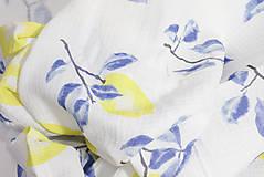 Textil - FRUITS gázovinová prikrývka Citróny - 10335565_