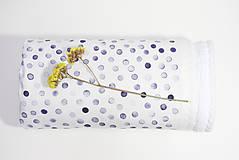 Textil - INDIGO detská prikrývka - Kvapky - 10336393_