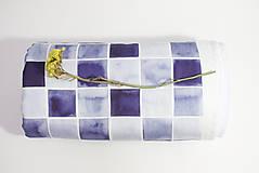 Textil - INDIGO detská prikrývka - Štvorce - 10336410_