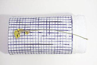 Textil - INDIGO detská prikrývka - Mriežka - 10336491_
