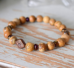 Náramky - Mantra minerál Jaspis kalahari - 10336549_