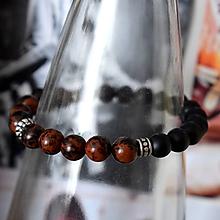 Šperky - Mantra pánsky náramok Jaspis a Ónyx - 10336769_