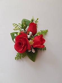 """Pierka - pierko pre ženícha """"červené ruže"""" - 10336870_"""