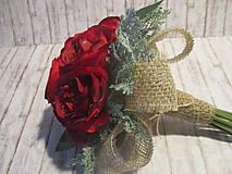 Dekorácie - Kytička ruží - 10337956_