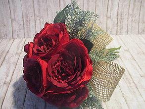 Dekorácie - Kytička ruží - 10337950_