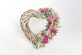 Dekorácie - Prírodné srdce romantické - 10339032_