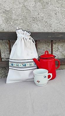 Úžitkový textil - Ľanové vrecko na veľký chlieb HOREC a PLESNIVEC - 10336182_