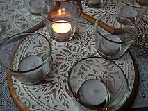 Dekorácie - Originální svícen s reliéfní mandalou,bronz1 - 10338534_