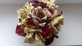 Dekorácie - Dekorácia z papierovych ruží - 10337308_