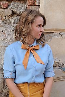 Náhrdelníky - Mašľa viazacia oranžová - 10338659_