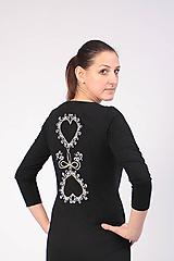 Šaty - Šaty folk IV čierna - 10338064_