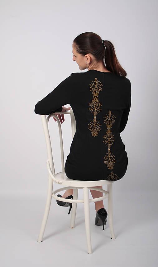 e9909d6c679 Šaty folk III čierna   miracles.style - SAShE.sk - Handmade Šaty