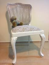 Nábytok - Stoličky - francúzsky vintage štýl - 10338568_