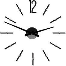 Hodiny - Moderné nástenné hodiny nalepovacie SOFIA XXL DIY samolepka 12P062 - 10338653_