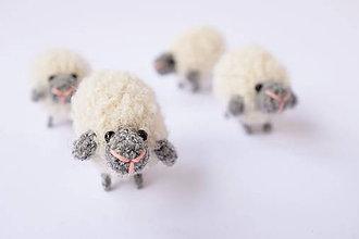 Hračky - mini-ovečka (Prírodne biela) - 10339016_