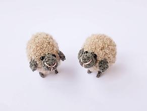 Hračky - mini-ovečka (Béžová) - 10339023_
