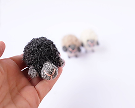 Hračky - mini-ovečka (Čierna) - 10339040_