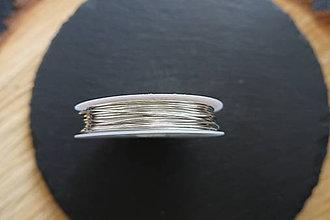 Komponenty - Medený drôt strieborný (0,8mm) - 10339603_
