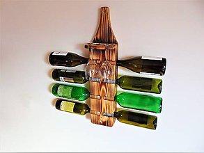 Nábytok - Polička na víno (Stojan na víno) - 10337247_