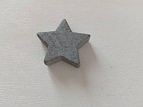 Polotovary - Drevená hviezda sivá - 10338000_