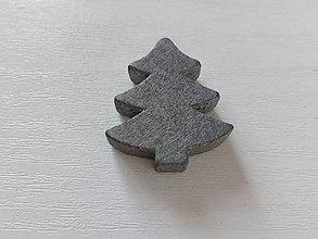 Polotovary - Drevený stromček sivý - 10338014_