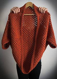 Svetre/Pulóvre - Háčkovaný kardigan (Oranžová) - 10339684_