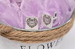 Šperky - manžetové gombíky ľudové čiernobiele - 10337966_