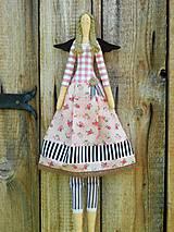 Dekorácie - Textilná anjelka, 60 cm - 10337971_