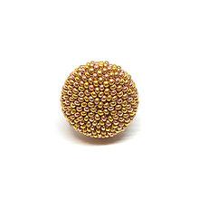 Prstene - BUTTON {M} zlatý elegantný prsteň - 10336099_