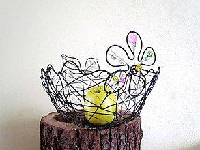 Košíky - košík na ovocie (23 x 19 cm , výška 10 cm) - 10336342_