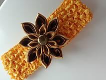 Ozdoby do vlasov - Čelenka s kanzashi kvetom. - 10337828_