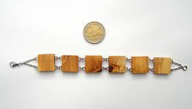 Náramky - Špaltované brezové štvorčeky - 10339466_