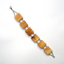 Náramky - Špaltované brezové štvorčeky - 10339468_
