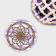 Dekorácie - Ozdoba na koláčik mandala chocolate lines - 10335780_